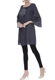 pleated-cotton-silk-short-tunic