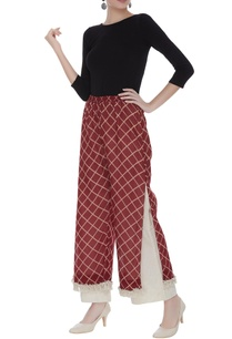 checkered-tassel-pants