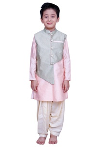 kurta-with-foil-print-jacket-salwar