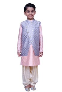 short-kurta-with-printed-jacket-and-salwar