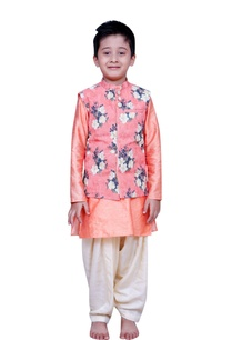 floral-printed-jacket-with-kurta-and-churidar