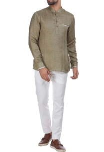 short-full-sleeves-kurta-with-piping-detail