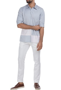 button-down-color-block-shirt
