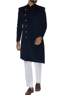 textured-cupro-sherwani-with-straight-pants