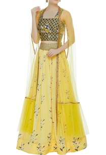floral-printed-sequin-embroidered-lehenga-set