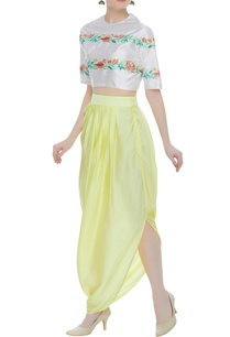 raw-silk-embroidered-crop-top-with-dhoti-skirt