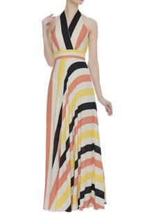 color-block-halter-maxi-dress
