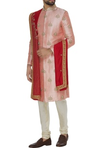embroidered-sherwani-with-silk-stole