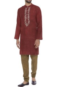 organic-silk-hand-thread-embroidered-kurta