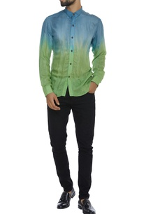 ombre-naturally-dyed-organic-silk-shirt