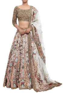 organza-lehenga-with-sequin-blouse-dupatta