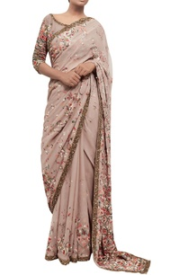 embroidered-chiffon-sari-with-blouse