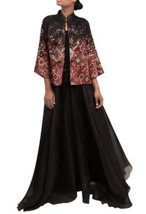 sequin-blouse-with-organza-lehenga-jacket