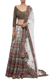 ikat-lehenga-set-with-sequin-embroidered-blouse-and-dupatta