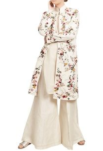 floral-embroidered-mid-length-jacket-palazzo-set