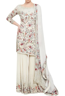 chiffon-floral-embroidered-kurta-sharara-set