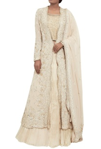 chiffon-chikankari-embroidered-jacket-lehenga-set