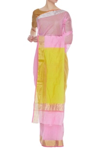 dual-colored-pure-chanderi-sari-unstitched-blouse