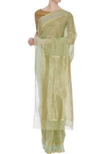 tissue-chanderi-zari-sari-with-unstitched-blouse