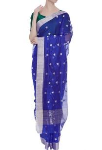 pure-chanderi-sari-with-lotus-motifs-unstitched-blouse