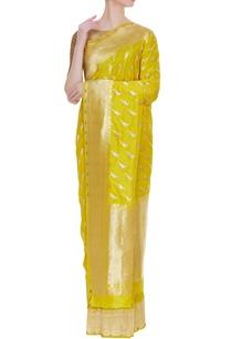parrot-motif-banarasi-silk-sari-with-unstitched-blouse