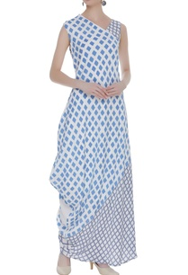 draped-block-printed-dress