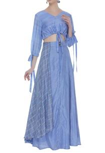 crop-top-overlap-printed-skirt
