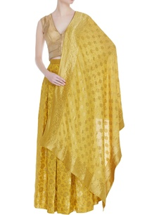 banarasi-lehenga-dupatta-with-sleeveless-blouse