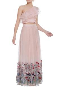 embroidered-lehenga-with-ruffle-blouse