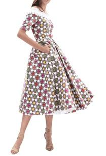pleated-printed-midi-dress