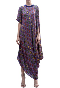 draped-all-over-print-dress