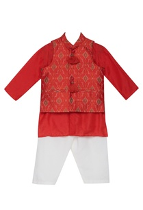 ikat-print-jacket-and-kurta-set