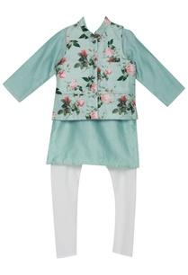 rose-print-jacket-with-chanderi-kurta-set