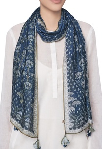 digital-printed-ranthambore-forest-inspired-stole