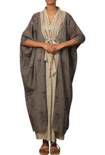 long-kaftan-dress-with-printed-jacket