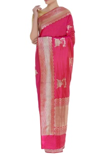 mulberry-silk-banarasi-woven-sari-with-unstitched-blouse