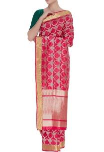 jaal-motif-handwoven-silk-sari-unstitched-blouse