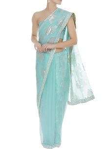 organza-sari-with-petticoat-unstitched-blouse-fabric