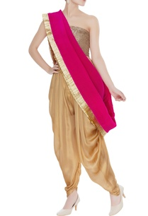 dhoti-pants-with-drape-unstitched-blouse-fabric