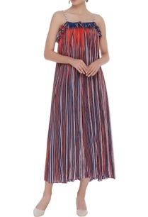 micro-pleated-flared-midi-dress