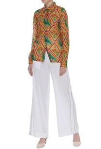 parrot-printed-cotton-silk-shirt