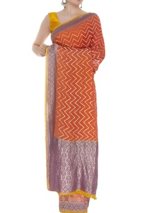 banarasi-handwoven-chevron-sari-with-unstitched-blouse
