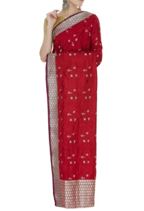 handwoven-silk-sari-with-unstitched-blouse