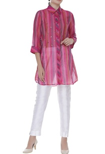 sequin-embroidered-striped-shirt