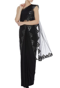 leather-applique-blouse-with-sheer-sari