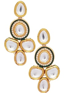 mixed-metal-kundan-earrings