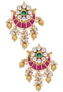 floral-moon-shape-jhumka-earrings