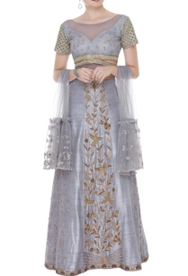 embroidered-blouse-with-belt-lehenga-and-dupatta