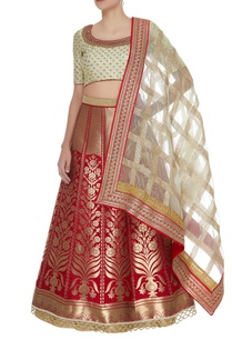 lehenga-with-embroidered-blouse-dupatta