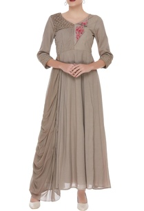 french-knot-embroidered-draped-dress